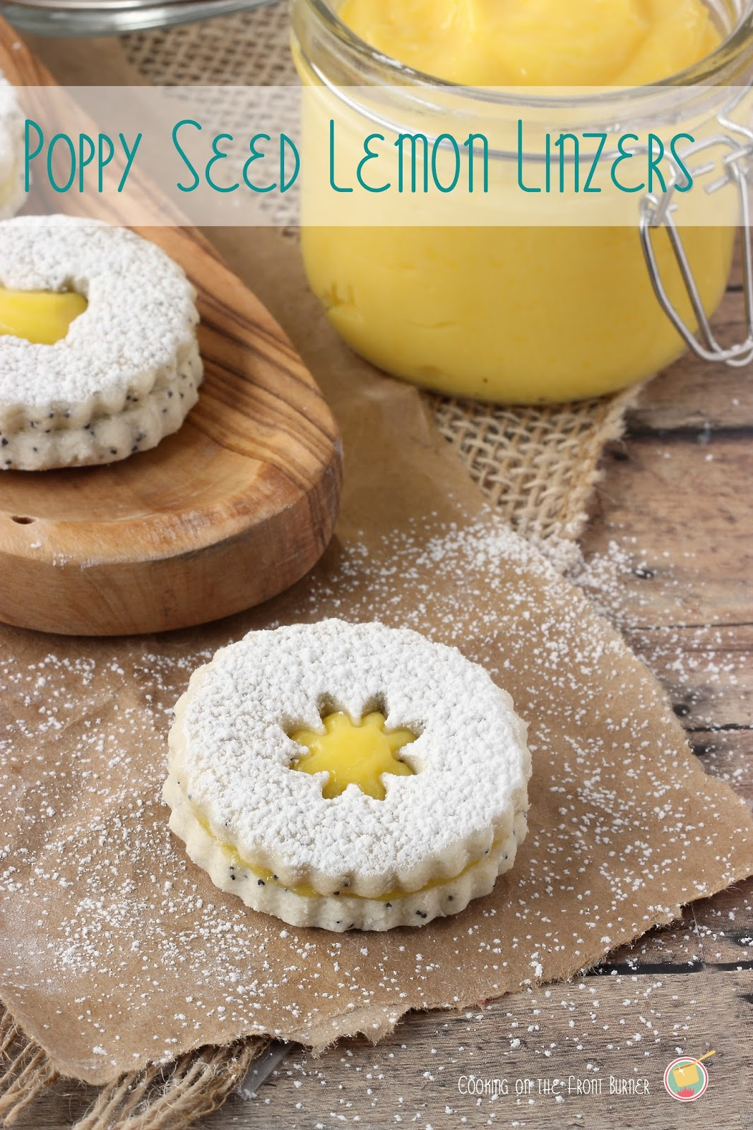 Poppy Seed Lemon Linzer Cookies | Cooking on the Front Burner