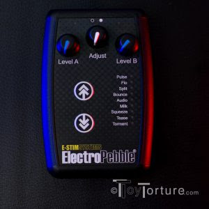The E-Stim Systems ElectroPebble - Picture by Toy Torture.com 2017