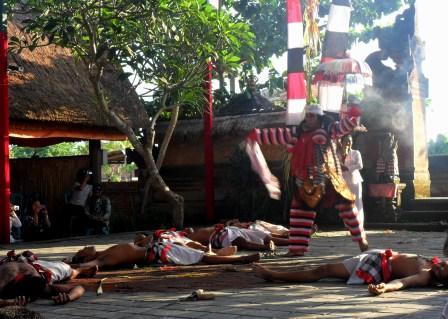 Balinese dance action in Ubud