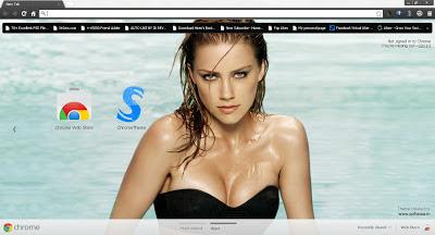 Beautiful Amber Heard Google Chrome Theme