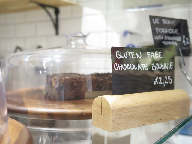 Chocolate brownie at Juice kitchen, chelmsford, essex, gluten free