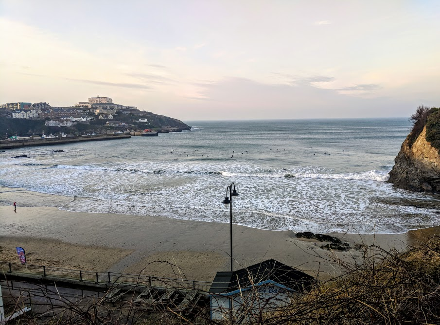 The Sands Resort Cornwall Review | A Family Hotel with Kids Club near Newquay  - surfers at Newquay beach