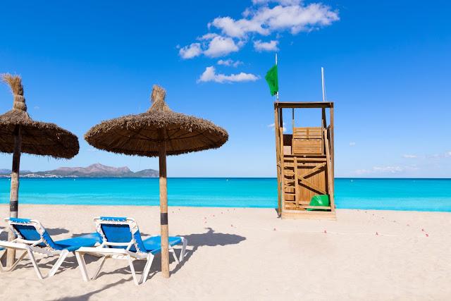 Pantai Ca'n Picafort di Majorca, Spanyol