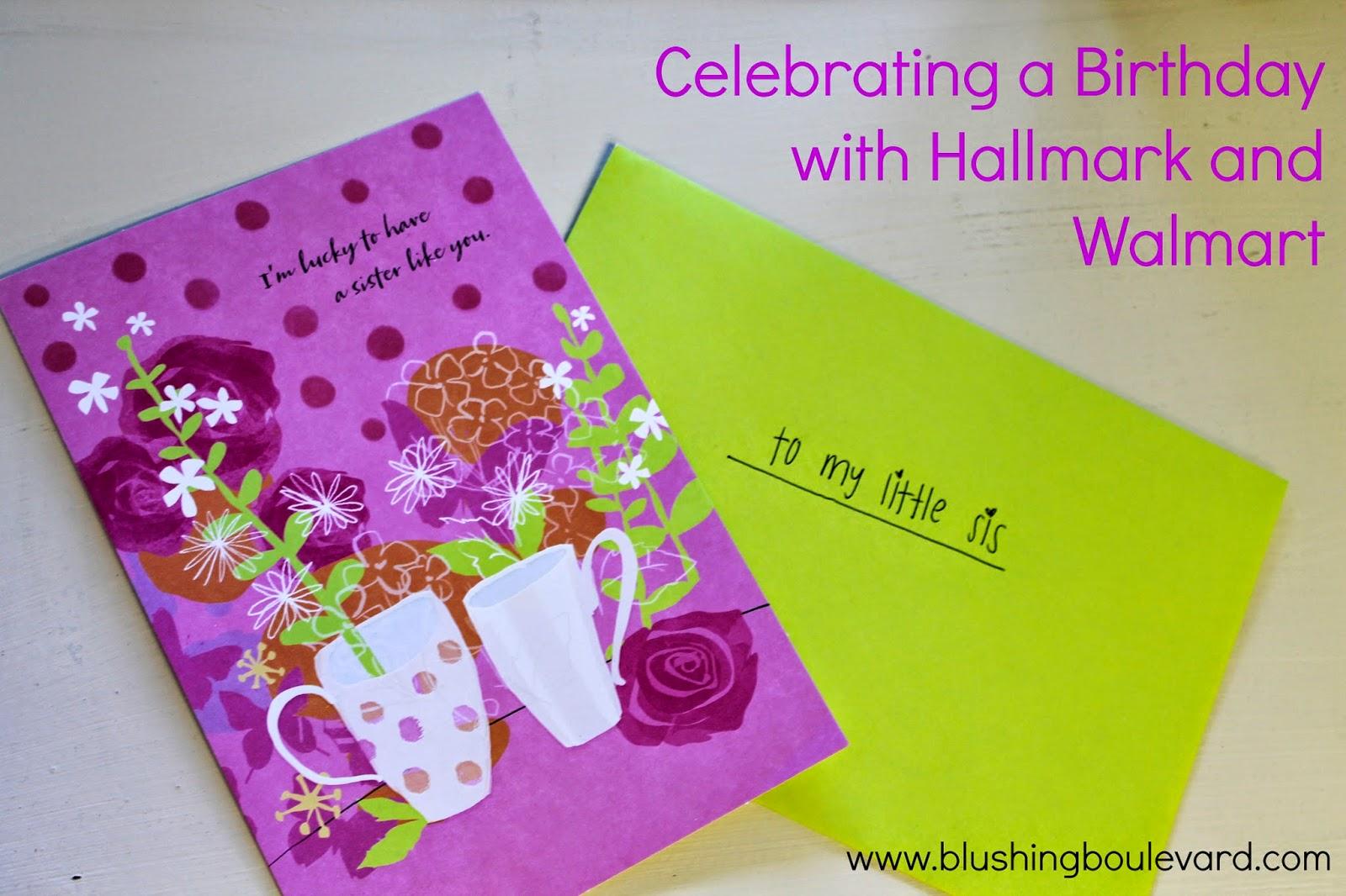 creative card ideas with hallmark  walmart  blushing