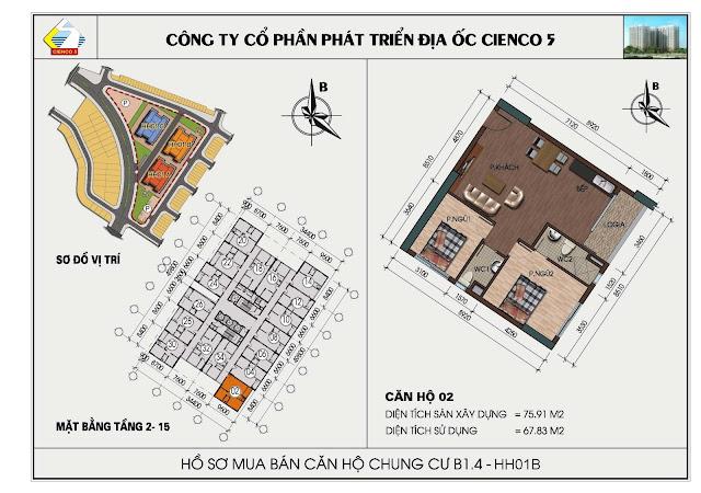 Hồ sơ mua bán căn hộ chung cư B1.4 căn 02 tòa HH01B