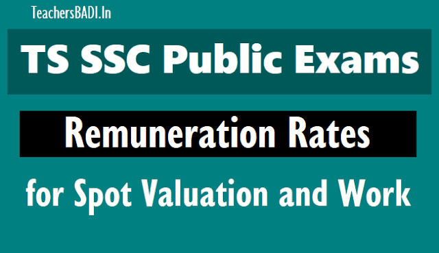 ts #ssc public exams 2018 spot valuation new #remuneration #rates,ts go.11,contingency charges,ts ssc exams conducting ssc public examinations,spot valuation work