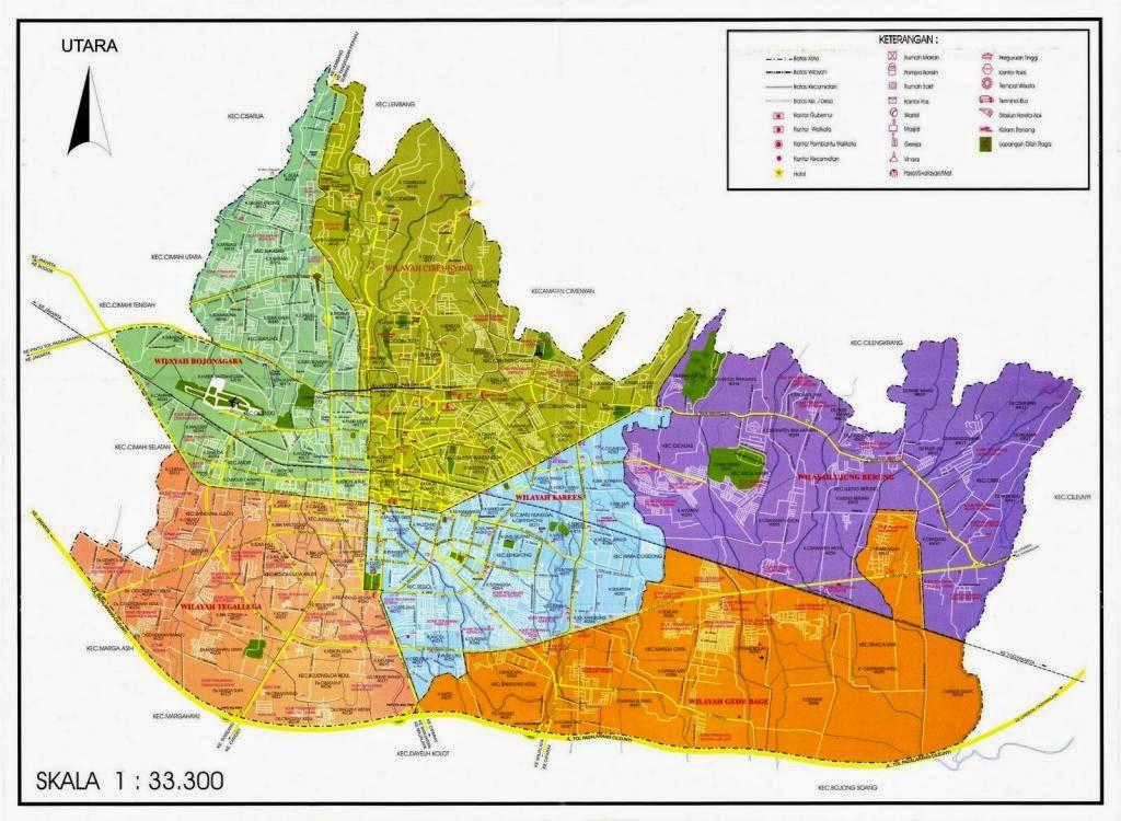 Mega-BiroJasa-Peta Wilayah di Kotamadya Bandung