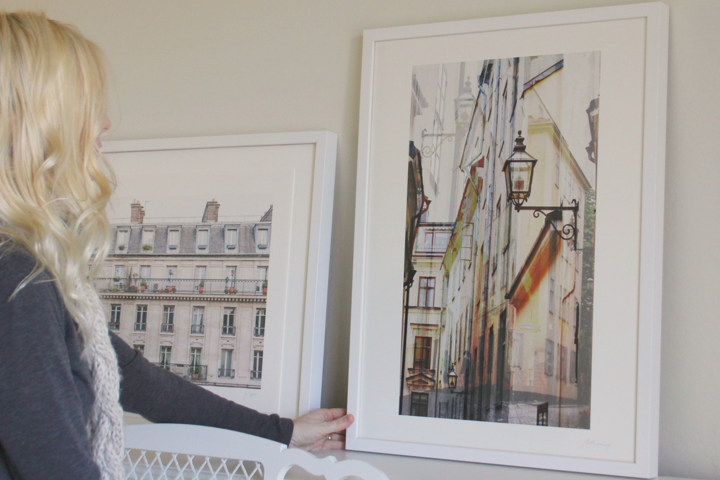 Paris and Stockholm art prints from Minted at Hello Lovely's Arizona Fixer Upper