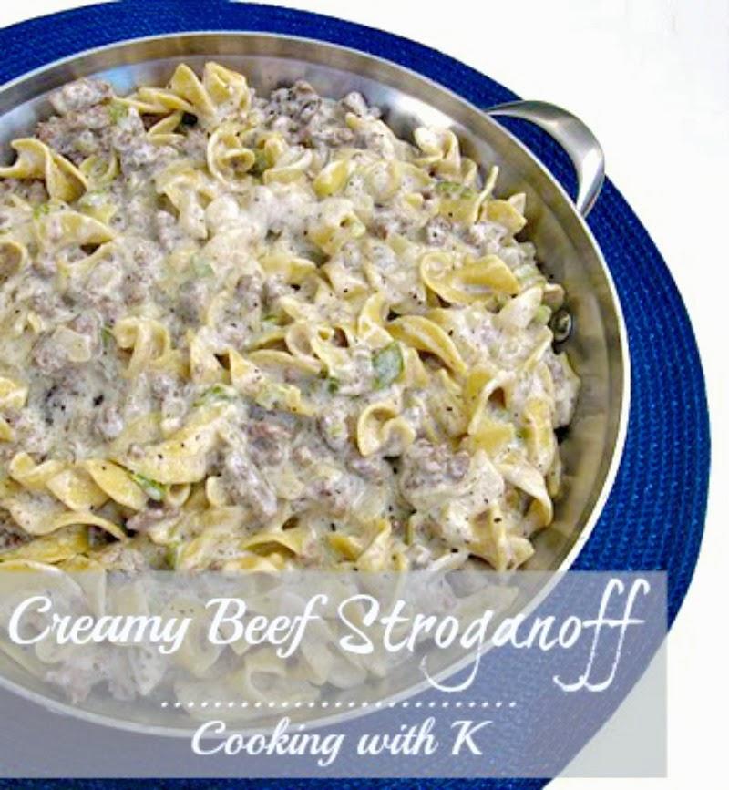 Cooking With K: Creamy Beef Stroganoff {Granny's Recipe}