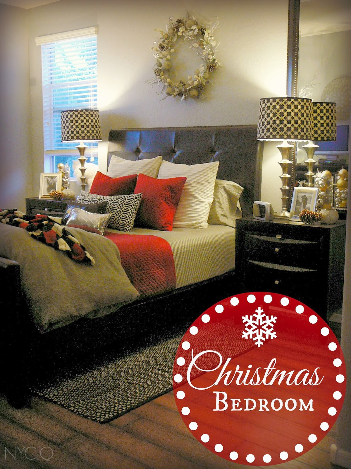 FOCAL POINT STYLING: CHRISTMAS BEDROOM WITH LAYERS OF ...