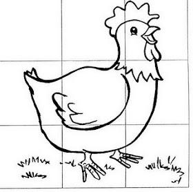 Lúdico na Educação Infantil - Quebra cabeça galinha. Educação Infantil