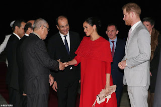 Arriving in Casablanca Duke and Duchess of Sussex