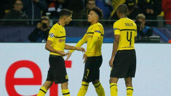 Jadon Sancho score for Borussia Dortmund