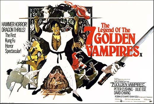 Poster de The legend of the seven golden vampires 1974