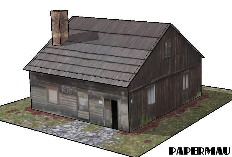 Free Scale Paper House Papermau: PAPERMAU: The Old Farm House Paper Model