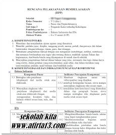 RPP Kelas 5 Tema 6 Kurikulum 2013