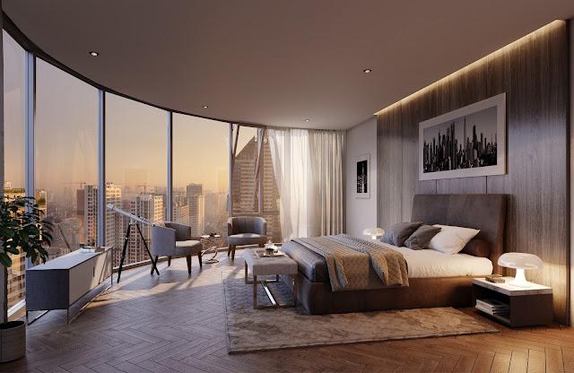 Căn hộ thiết kế không gian tràn ngập ánh sáng và view đẹp