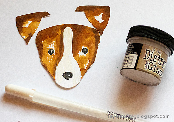 Layers of ink - Jack Russell Tag Tutorial by Anna-Karin Evaldsson.