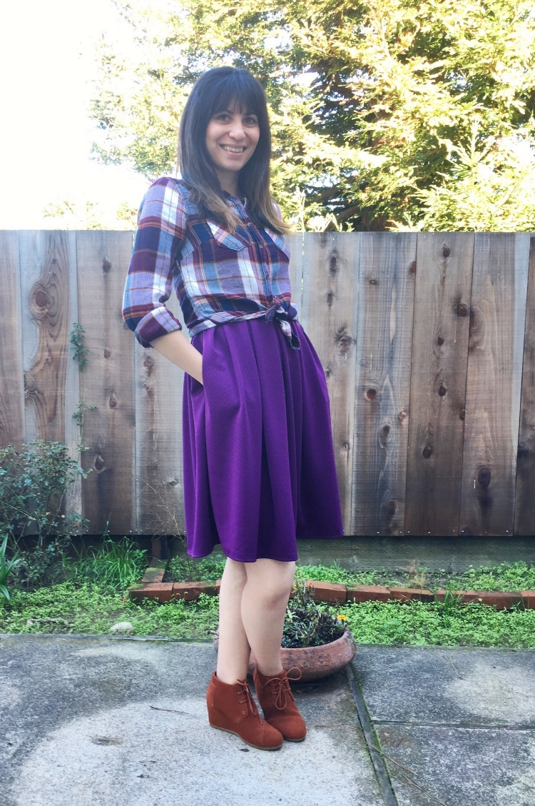 Plaid for Fall paired with LuLaRoe Amelia