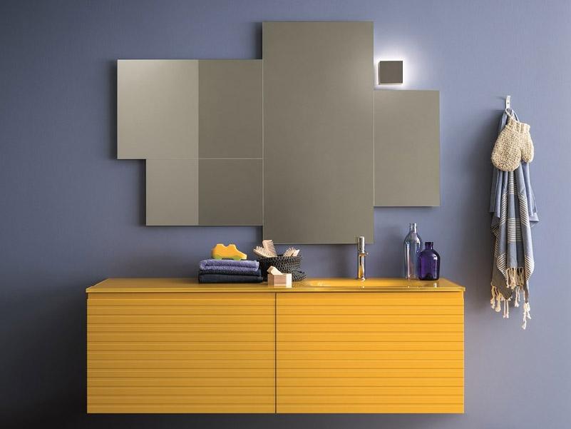 Mobile lavabo laccato giallo MEMENTO-COMP.5 by Birex