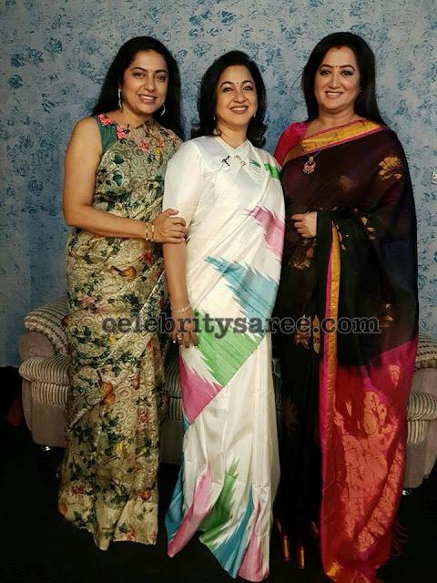 Radhika Suhasini and Sumalatha Sarees