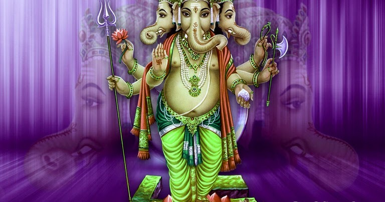 Tri Murti Ganesh HD Pictures, Ganapati Photos