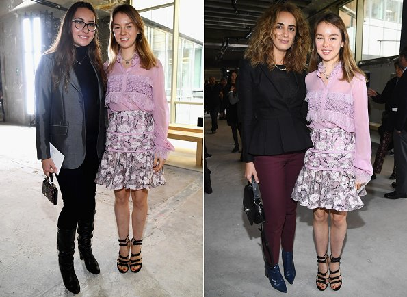 Princess Alexandra who is the little daughter of Princess Caroline visited Giambattista Valli Spring/Summer 2018 fashion show