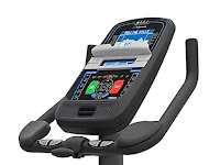 Nautilus MY18 U616 console with blue backlit LCD display, Bluetooth, 29 programs, 25 ECB resistance levels, USB charging port, speakers & MP3 input, 3-speed cooling fan