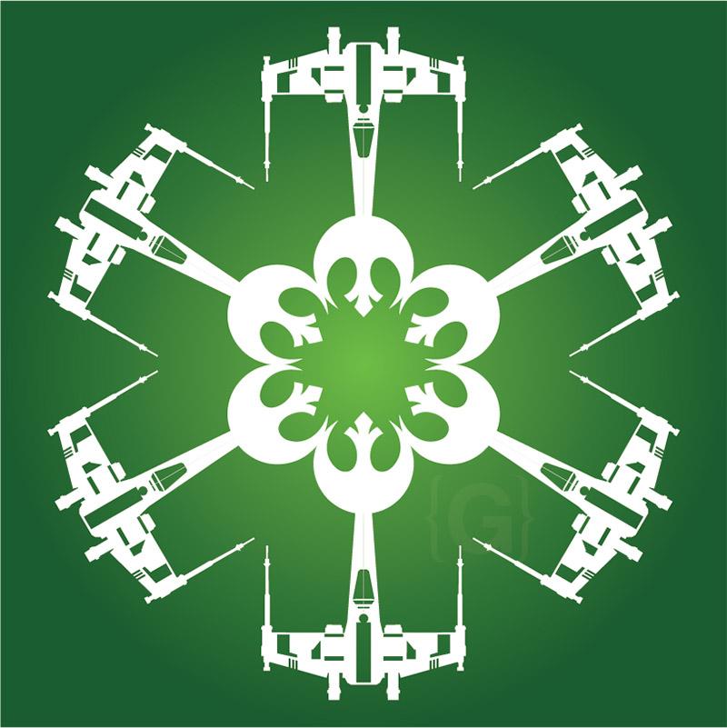 x-wing starfighter snowflake