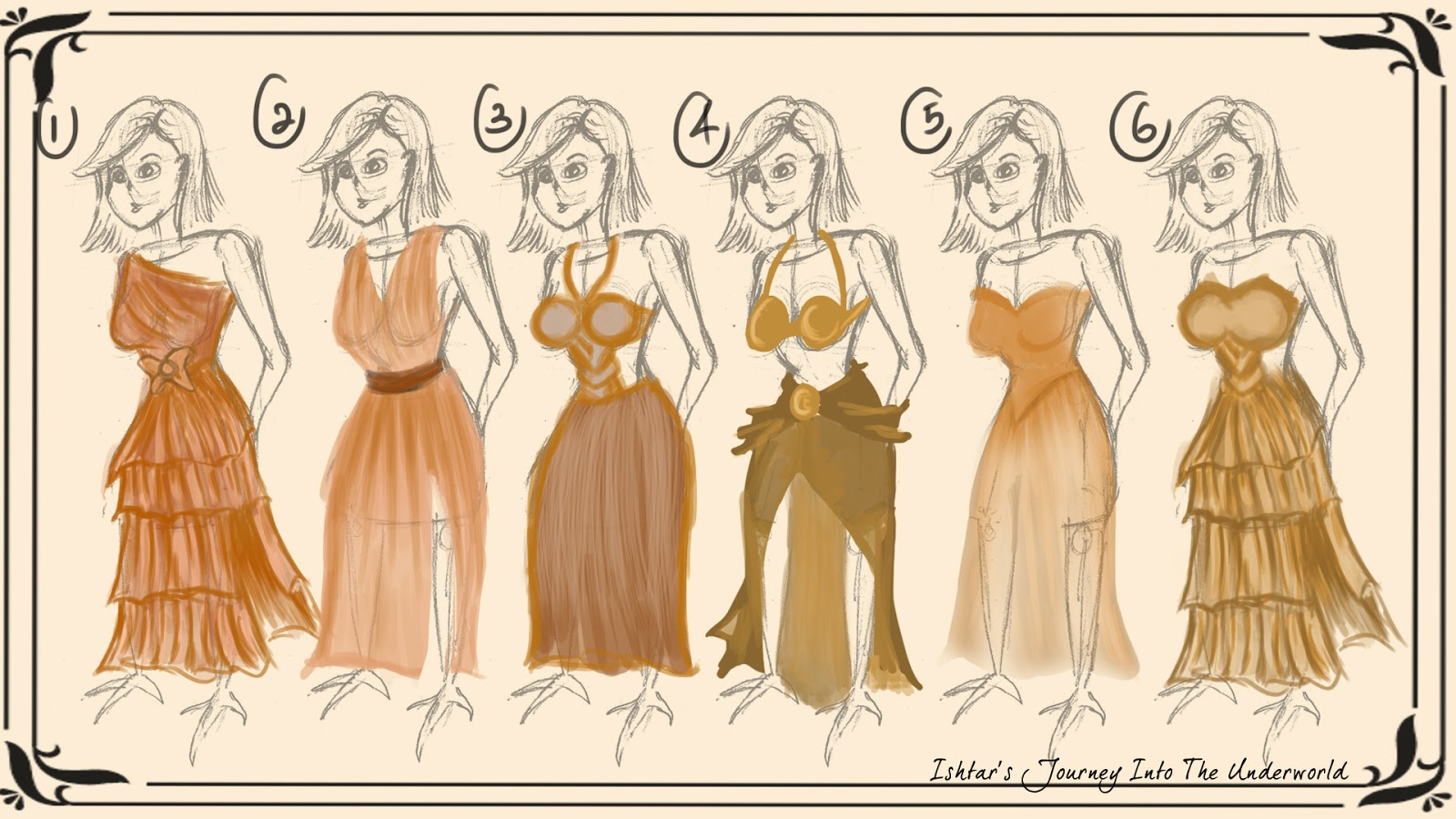 Ayunie Adiana: Adaptation B: Character Design Development 10 (Dress