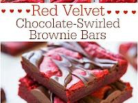 Red Velvet Chocolate-Swirled Brownie Bars Recipe