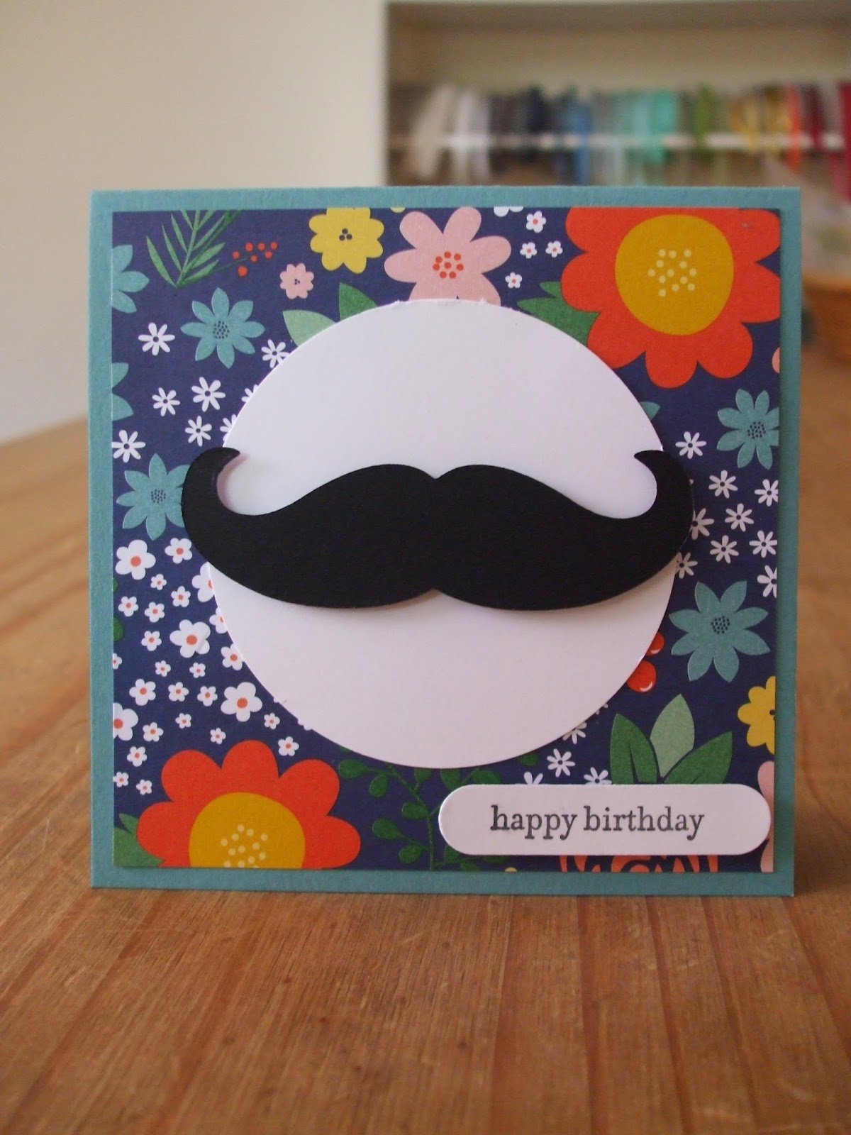 Mustache die, Stampin' Up!