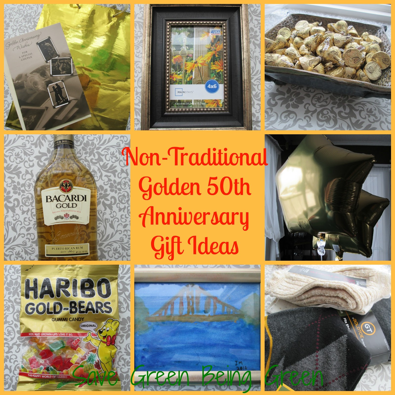 Gift Ideas For A 50th Wedding Anniversary: Save Green Being Green: Non-Traditional Golden 50th