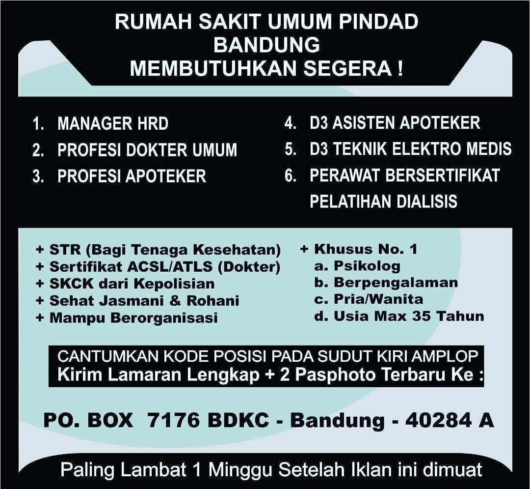 Lowongan Kerja Terbaru Rs Pindad Bandung Loker Karir