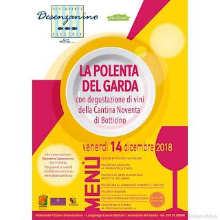 Manifesto la polenta del garda degustazione