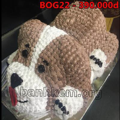 bánh sinh nhật hình con chó