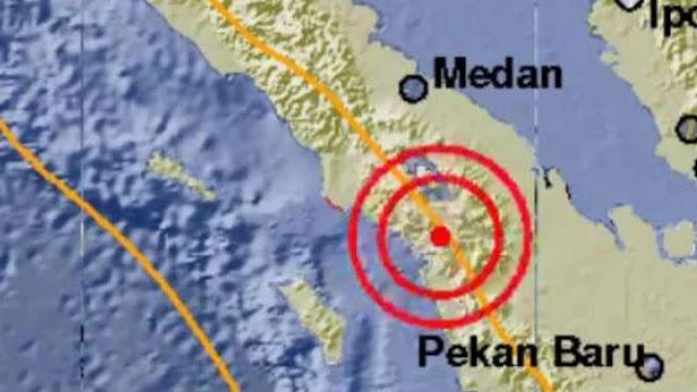 Sesar Sumatera Bergerak, Tapanuli Utara Diguncang Gempa
