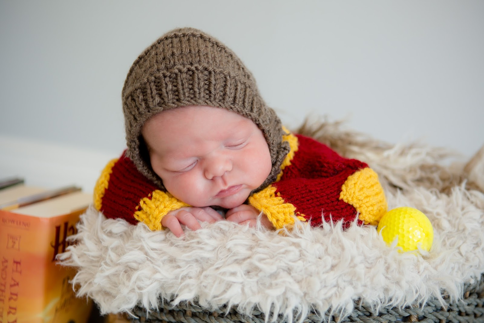 newborn boy harry potter close up