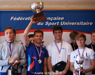 Robin Follin, champion de France Universitaire