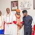 Acting president, Yemi Osinbajo, receives the Olu of Warri at the state house Abuja