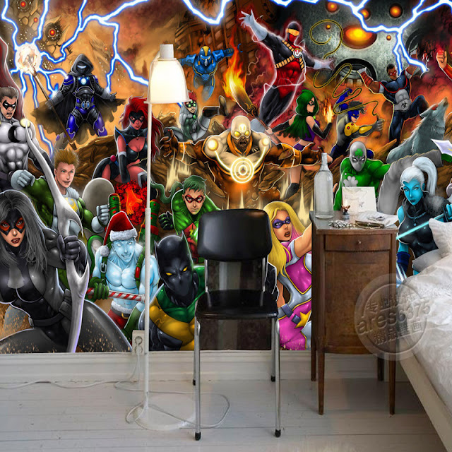 Wall murals for kids room Avengers Photo wallpaper Marvel Comics Wall mural Custom 3D wallpaper Children Bedroom kids