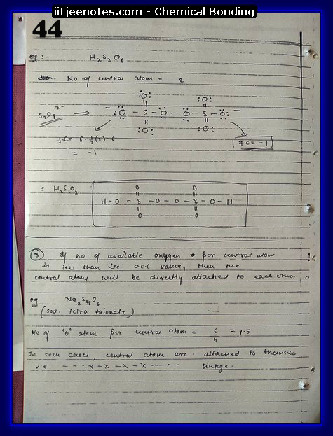 Chemical Bonding Notes IITJEE 21
