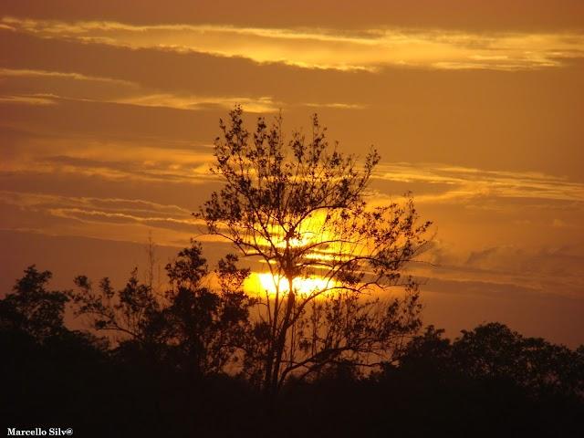 Foto | Pôr do sol chavalense.
