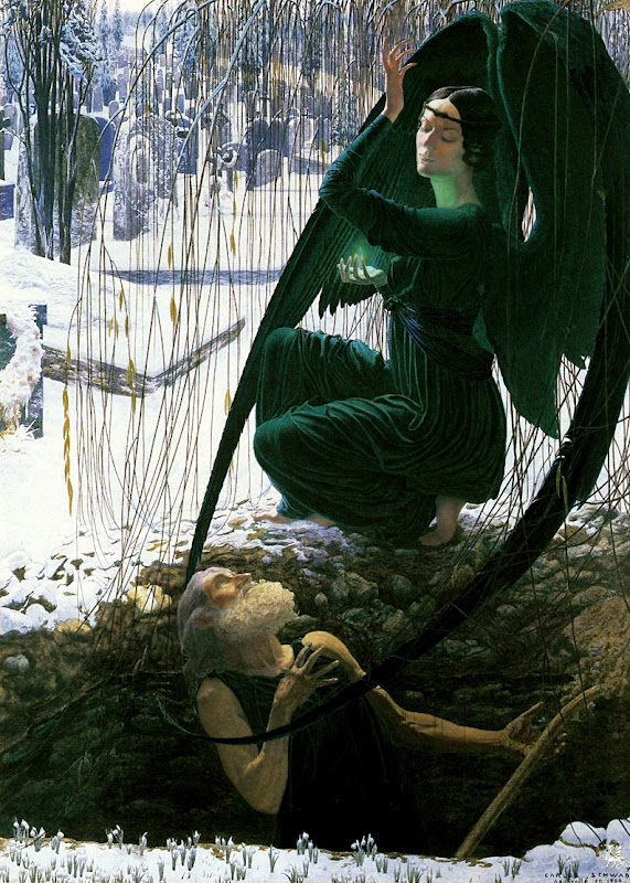 Carlos Schwabe: The Death of the Gravedigger