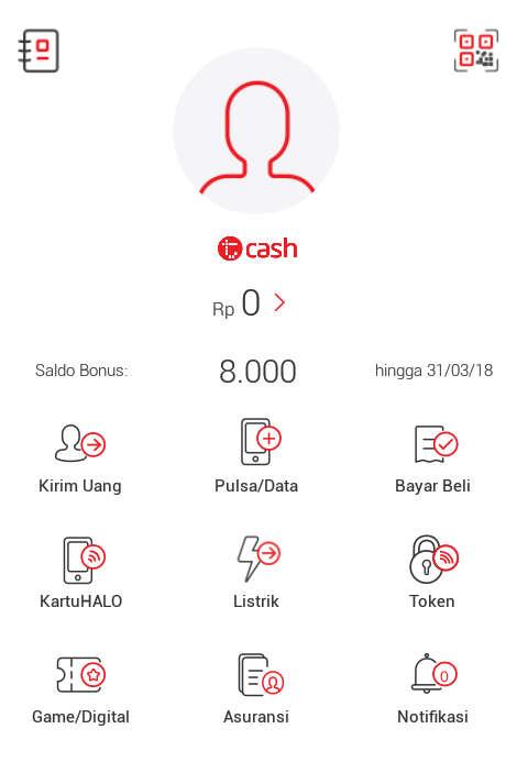 Bonus di aplikasi TCASH Telkomsel