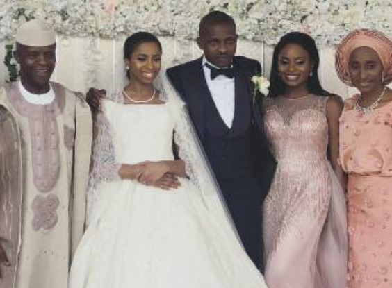 Photos from the wedding of VP Yemi Osinbajo's daughter, Oludamilola to son of billionaire businesswoman, Bola Shagaya, Seun Bakare