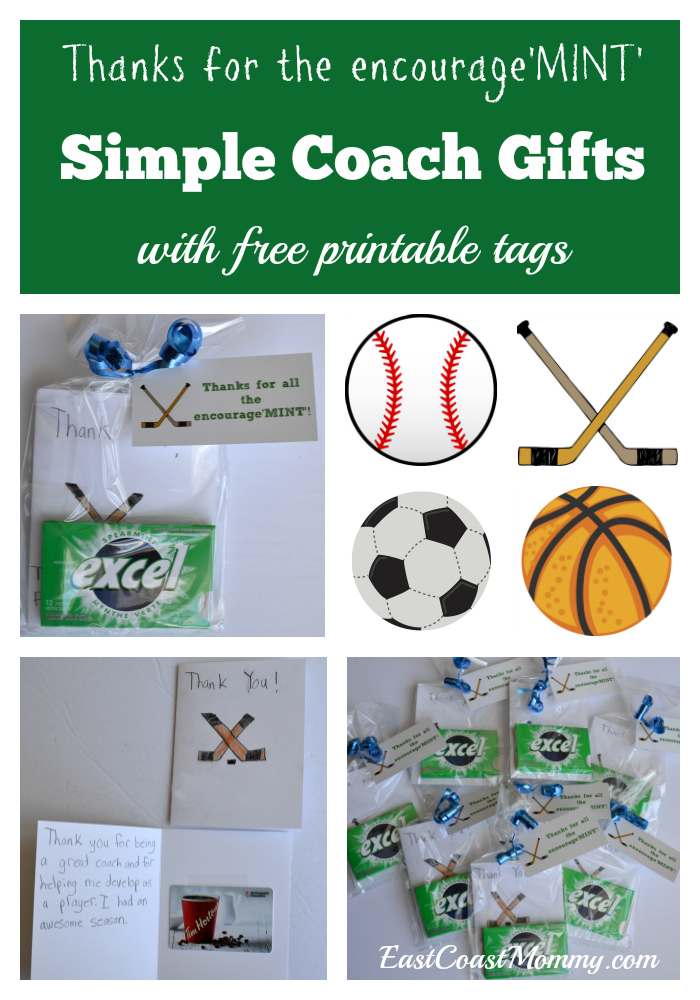 East Coast Mommy Simple Coach Thank You Gifts With Free Printable Tags