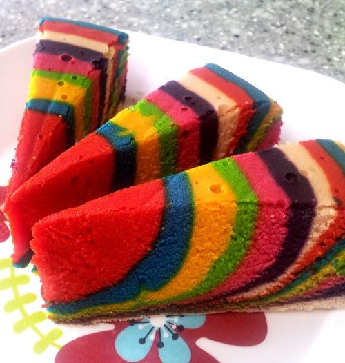 Resepi Kek Velvet Pelangi!!