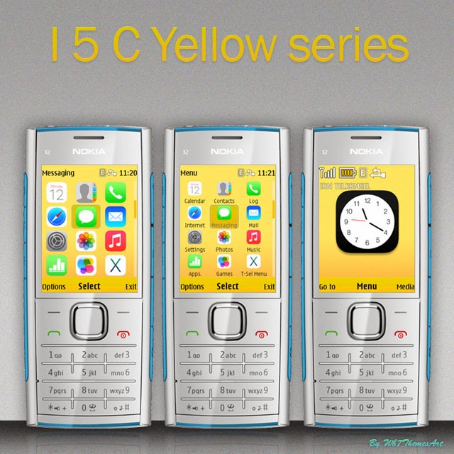 I5 C yellow free theme asha 206 c2-01 x2-00 6303i