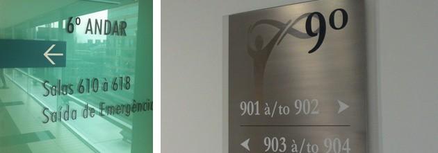 salas 610 a 618 com crase
